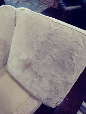 Before & After Upholstery Cleaning of White Sofa in Hutto, TX (1)