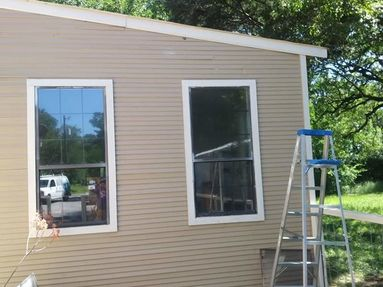 Before & After of Paint Over Spray Removal on Windows in Cedar Creek, TX (6)